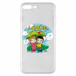 Чохол для iPhone 8 Plus Love is ... in the rain
