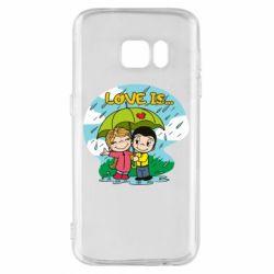 Чохол для Samsung S7 Love is ... in the rain