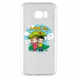 Чохол для Samsung S7 EDGE Love is ... in the rain