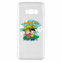 Чохол для Samsung S8 Love is ... in the rain
