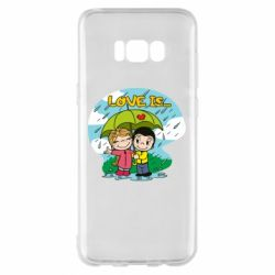 Чохол для Samsung S8+ Love is ... in the rain