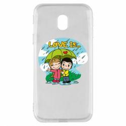 Чохол для Samsung J3 2017 Love is ... in the rain