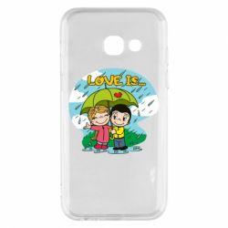 Чохол для Samsung A3 2017 Love is ... in the rain