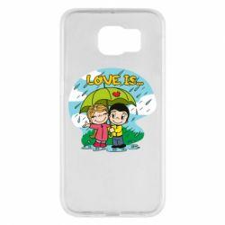 Чохол для Samsung S6 Love is ... in the rain