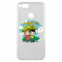Чохол для Xiaomi Mi A1 Love is ... in the rain