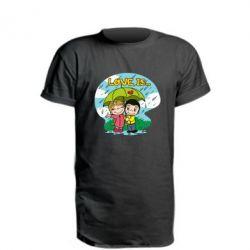 Подовжена футболка Love is ... in the rain