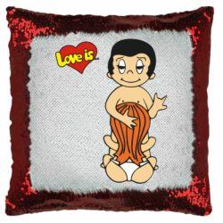 Подушка-хамелеон Love is... Sex :)