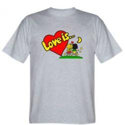 Мужская футболка Love is... - FatLine