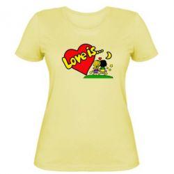 Женская футболка Love is... - FatLine