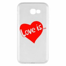 Чехол для Samsung A7 2017 Love is... - FatLine