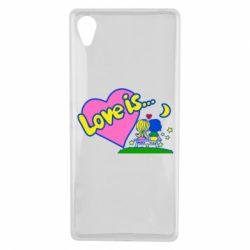 Чехол для Sony Xperia X Love is... - FatLine