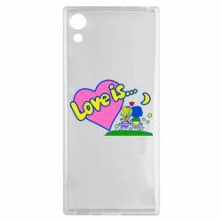 Чехол для Sony Xperia XA1 Love is... - FatLine