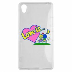 Чехол для Sony Xperia Z1 Love is... - FatLine