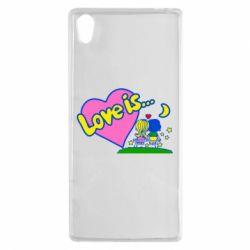 Чехол для Sony Xperia Z5 Love is... - FatLine