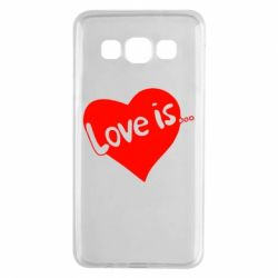 Чехол для Samsung A3 2015 Love is... - FatLine