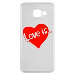 Чехол для Samsung A3 2016 Love is...