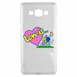 Чехол для Samsung A5 2015 Love is... - FatLine