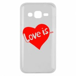 Чехол для Samsung J2 2015 Love is... - FatLine