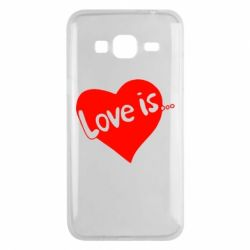 Чехол для Samsung J3 2016 Love is... - FatLine