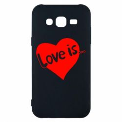 Чехол для Samsung J5 2015 Love is... - FatLine