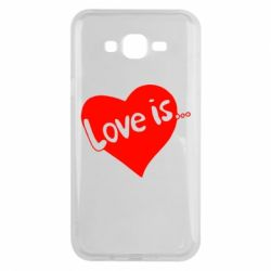 Чехол для Samsung J7 2015 Love is... - FatLine