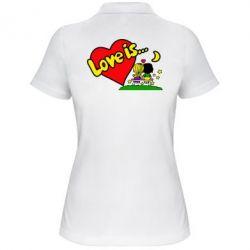 Женская футболка поло Love is... - FatLine