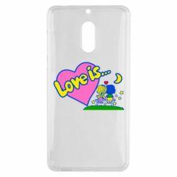 Чехол для Nokia 6 Love is... - FatLine