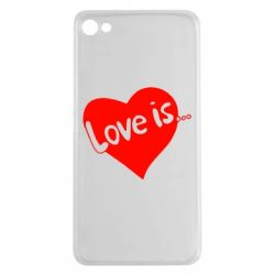 Чехол для Meizu U20 Love is... - FatLine