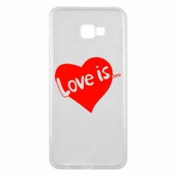 Чехол для Samsung J4 Plus 2018 Love is...