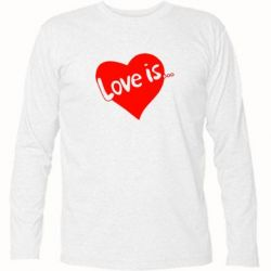 Футболка с длинным рукавом Love is... - FatLine
