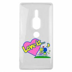 Чехол для Sony Xperia XZ2 Premium Love is... - FatLine
