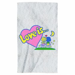 Полотенце Love is...
