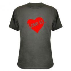 Камуфляжная футболка Love is... - FatLine