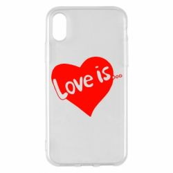 Чехол для iPhone X/Xs Love is...