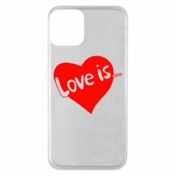Чехол для iPhone 11 Love is...