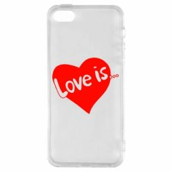 Чехол для iPhone5/5S/SE Love is... - FatLine