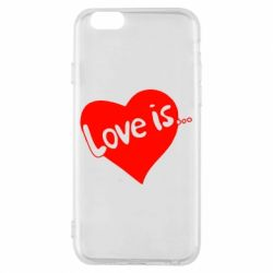 Чехол для iPhone 6/6S Love is... - FatLine