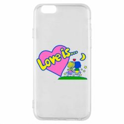 Чехол для iPhone 6/6S Love is...