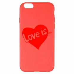 Чехол для iPhone 6 Plus/6S Plus Love is... - FatLine