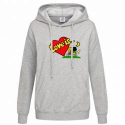 Женская толстовка Love is... - FatLine
