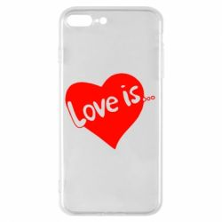 Чехол для iPhone 8 Plus Love is... - FatLine