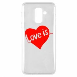 Чехол для Samsung A6+ 2018 Love is...