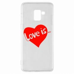 Чехол для Samsung A8+ 2018 Love is...