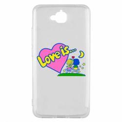Чехол для Huawei Y6 Pro Love is... - FatLine