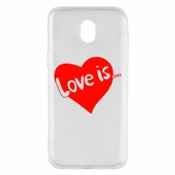 Чехол для Samsung J5 2017 Love is...