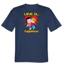 Чоловіча футболка love is...happyness