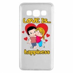 Чохол для Samsung A3 2015 love is...happyness