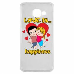 Чохол для Samsung A3 2016 love is...happyness