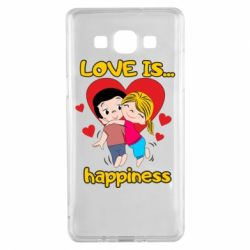 Чохол для Samsung A5 2015 love is...happyness