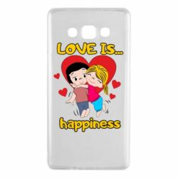 Чохол для Samsung A7 2015 love is...happyness